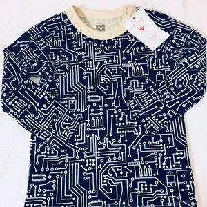 Winter Water Factory Shirts & Tops - WWF circuit print shirt